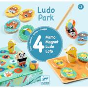 Holz Lernspiele: LudoPark - 4 Spiele