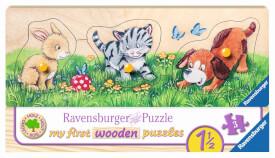 Ravensburger 03203 Puzzle Niedliche Tierkinder 3 Teile