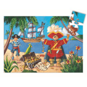 Formen Puzzle: The pirate and his treasure - 36 Stk.