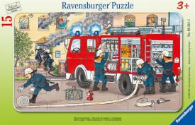 Ravensburger 06321 Rahmenpuzzle Mein Feuerwehrauto 15 Teile