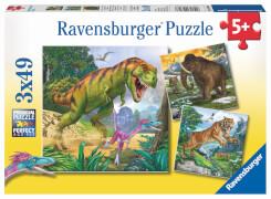 Ravensburger 09358 Puzzle Herrscher der Urzeit 3 x 49 Teile