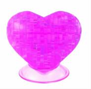 HCM Kinzel - 3D Crystal Puzzle - Herz, 46 Teile, ab 14 Jahre