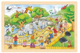 GoKi Einlegepuzzle Zoobesuch