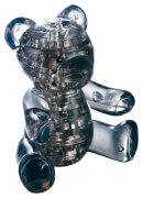 3D-Puzzle Crystal Teddy schwarz 41Teile
