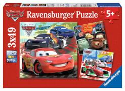 Ravensburger 09281 Puzzle Disney Cars Weltweiter Rennspaß 3 x 49 Teile