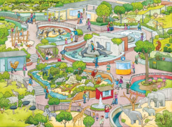 Ravensburger 5246 tiptoi® - Puzzeln, Entdecken, Erleben: Im Zoo, 100 Teile