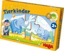HABA - 1, 2, Puzzelei - Tierkinder, ab 2 Jahren