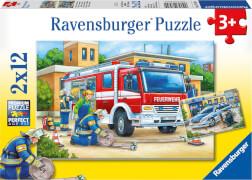 Ravensburger 07574 Puzzle Polizei und Feuerwehr 2 x 12 Teile