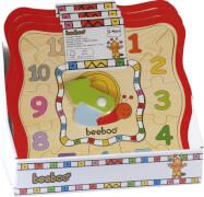 Beeboo Lustige Lernuhrenpuzzle, 12 Teile, 2-fach sortiert