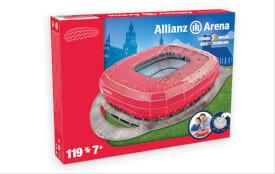 Puzzle 3D Stadion Allianz Arena München rot 119 Teile