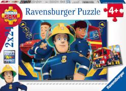 Ravensburger 09042 Puzzle Feuerwehrmann Sam hilft dir in der Not 2 x 24 Teile