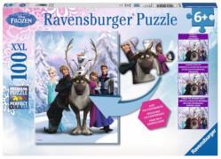 Ravensburger 105571 Puzzle Disney Frozen - Die Eiskönigin, Eisige Unterschiede 200 Teile