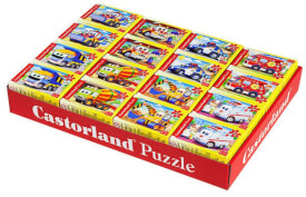 Glow2B Castorland Comic-Fahrzeuge 8-fach, Puzzle 54mini,Di