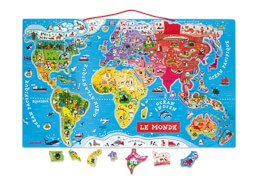 Magnet-Puzzle Weltkarte Frz.  (92 Teile)