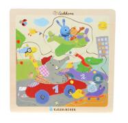 KiKANiNCHEN Einlegepuzzle, 4-sortiert