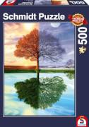 Schmidt Puzzle 58223 Jahreszeiten-Baum, 500 Teile, ab 12 Jahre