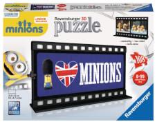 Ravensburger 112074  3D Puzzle Filmstreifen Minions British, 108 Teile