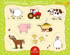 Kulleraugen-Puzzle Bauernhoftiere  8 Teile