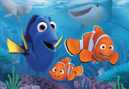 Ravensburger 76017 Puzzle Disney Pixar Findet Dorie: Unterwegs im Meer, 2x12 Teile