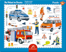 Rahmenpuzzle Polizei im Einsatz 40 Teile