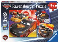 Ravensburger 80014 Disney Cars: Abenteuer auf der Straße, 3x49 Teile
