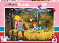 Schmidt Puzzle 56188 Bibi & Tina, Auf dem Heuboden, 150 Teile, ab 7 Jahre