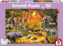 Schmidt Spiele Tiere in Afrika, Kinderpuzzle 150 Teile