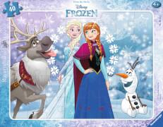Ravensburger 06141 Rahmenpuzzle: Disney Die Eiskönigin Anna und Elsa 40 Teile