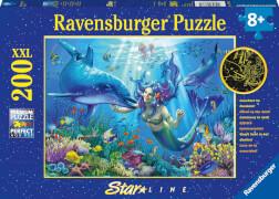 Ravensburger 13678 Puzzle Leuchtendes Unterwasserparadies 200 Teile
