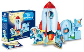 Riesenpuzzle Die Rakete inklusive Begleichtbuch