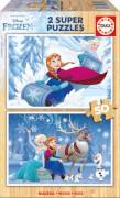 Educa - Holzpuzzle Frozen 2x50 Teile