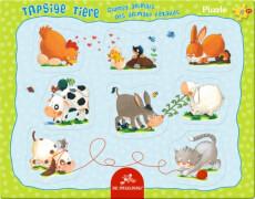 Rahmenpuzzle mit Fingerlochstanzung Tapsige Tiere 8 Teile