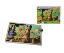 Steckpuzzle ''Biene Maja'', 9-teilig, Holz, ca. 30x20cm, ab 2 Jahren
