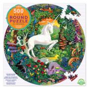 Puzzle Rund, Einhorn 500 Teile