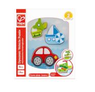 Hape - Dynamisches Fahrzeugpuzzle, 8-teilig, ab 18 Monaten