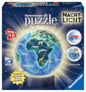 Ravensburger 11844 Puzzleball Erde Nachtdesign, Nachtlicht 72 Teile