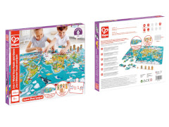 2-in-1-Weltreise  Puzzle und Spiel