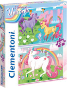 Clementoni Puzzle Unicorns - Einhörner, 2 x 20 Teile