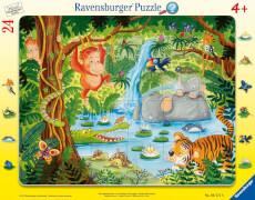 Ravensburger 06171 Rahmenpuzzle Dschungelbewohner 24 Teile