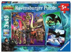 Ravensburger 08064 Puzzle Drachenzähmen leicht gemacht 3x49 Teile
