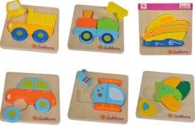 Eichhorn Mini Fahrzeugpuzzle, 6-sortiert.