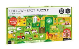 Petitcollage - Follow & Spot Puzzle Bauernhof 10 Teile