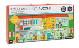 Petitcollage - Follow & Spot Puzzle Haus 10 Teile