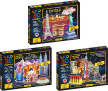 LED 3D Diorama Puzzle - 51 Teile Motiv: Welcome to Las Vegas