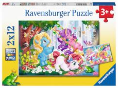 Ravensburger 05028 Puzzle: Magische Einhornwelt 2x12 Teile