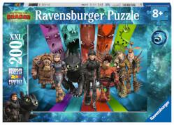 Ravensburger 12629 Puzzle: Die Drachenreiter von Berk 200 Teile XXL