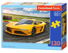 Castorland Yellow Sportscar, Puzzle 120 Teile