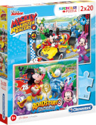 Clementoni 2 x 20 T Supercolor - Mickey and the Roadster Racers