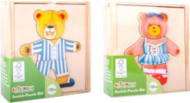 SpielMaus Holz Anzieh-Bär Schatulle, 2-fach sortiert