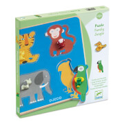 Steckpuzzle Holzknopf: Family Jungle
